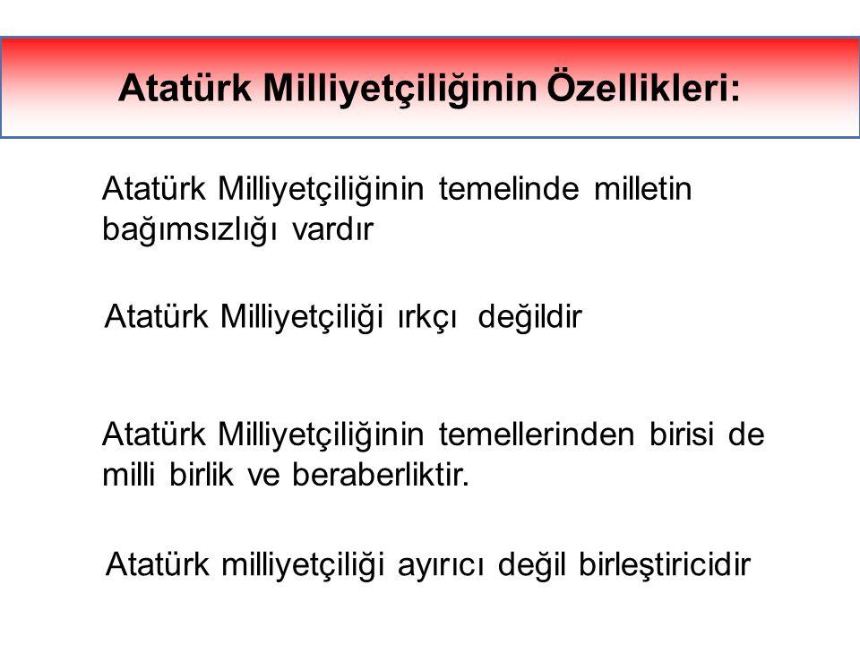 Bu milliyetçilik anlayışı, toplumumuzu din, mezhep, ırk ve sınıf kavgalarından koruyacak, milli birlik ve beraberliğimizi sağlamlaştıracak, Türk mille