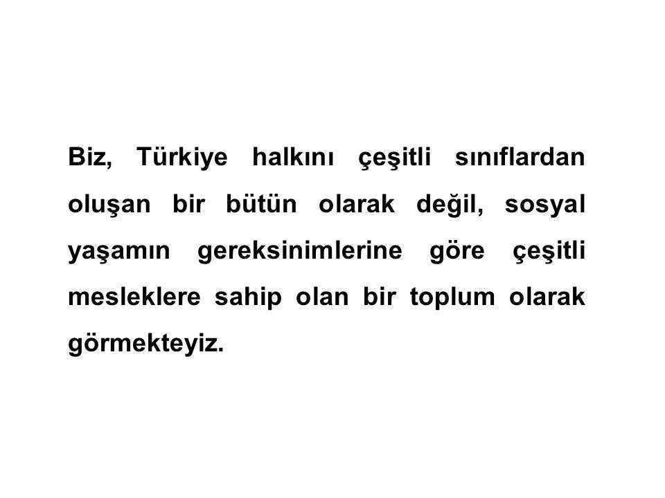 Halkçılık demek, devletin bütün kudret ve egemenliğinin halktan geldiğini, Türk camiası içinde, fert, aile ve sınıf ayrıcalığı bulunmadığını, kanun ön