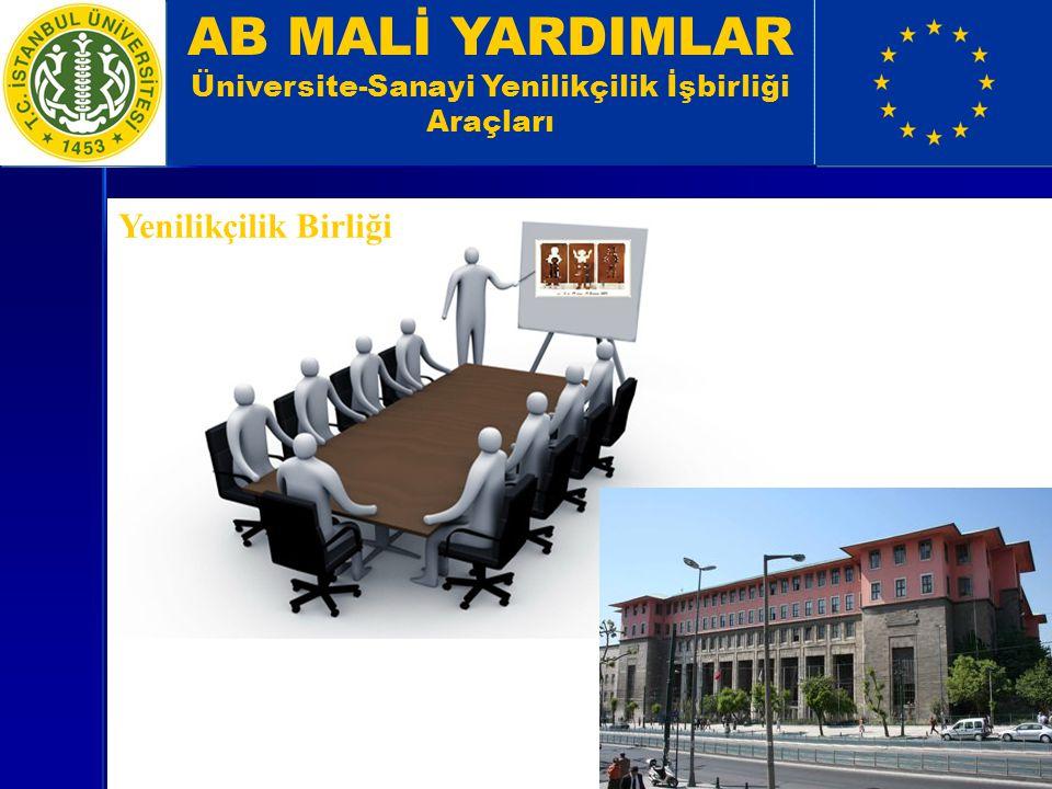 AB MALİ YARDIMLAR Üniversite-Sanayi Yenilikçilik İşbirliği Araçları Yenilikçilik Birliği