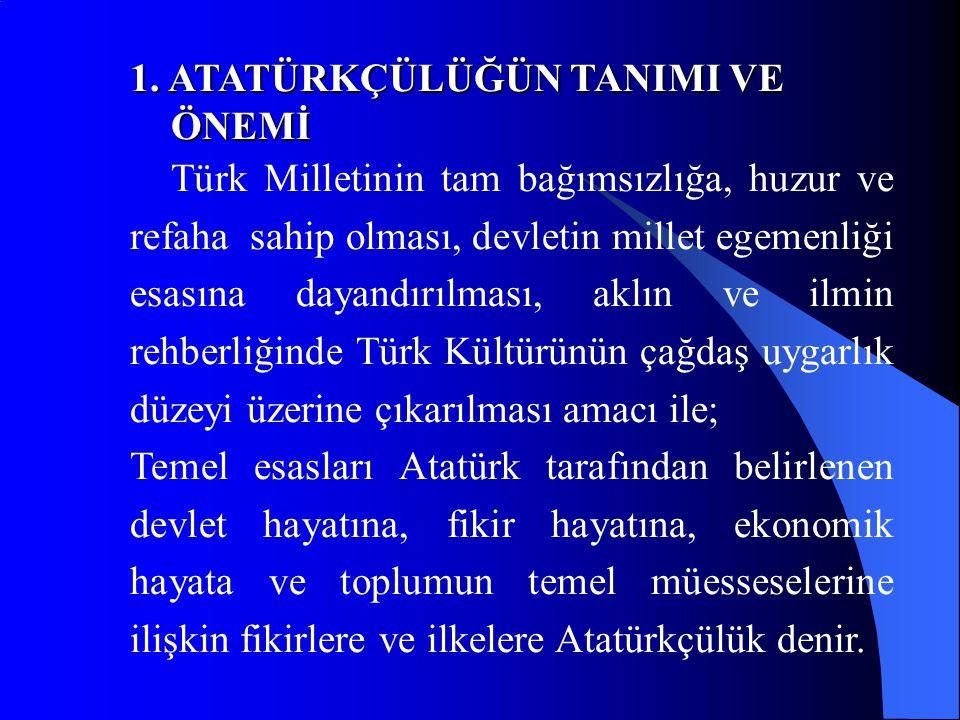 Eğitim sisteminin millî nitelikte olması; Türk Devletinin dayandığı tam bağımsızlık ve millî egemenlik esaslarına, Türk millî benliğine ve Türk devletinin devlet hayatı, fikir hayatı ve ekonomik hayattaki bütün kurumları ile uyacağı ve uygulayacağı Cumhuriyetçilik, millîyetçilik, halkçılık, devletçilik, laiklik ve inkılâpçılık ilkelerini benimseyip uygulanması anlamına gelir.