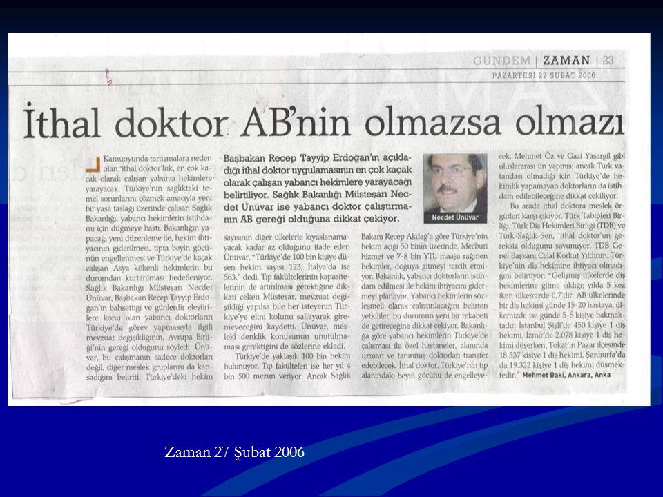 Zaman 27 Şubat 2006