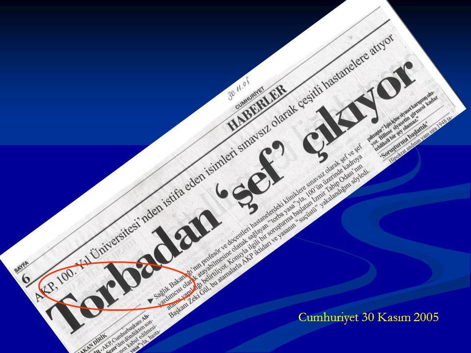 Cumhuriyet 30 Kasım 2005