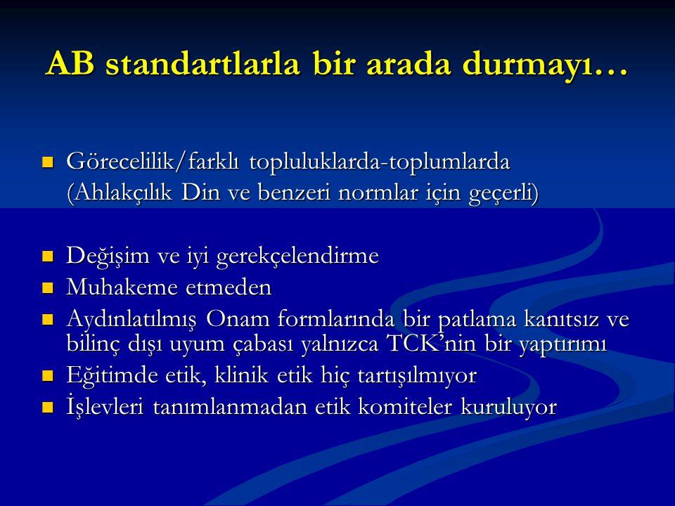 AB standartlarla bir arada durmayı… Görecelilik/farklı topluluklarda-toplumlarda Görecelilik/farklı topluluklarda-toplumlarda (Ahlakçılık Din ve benze