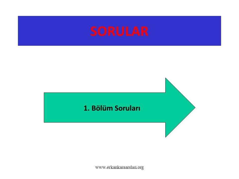 SORULAR www.erkankaraarslan.org 1. Bölüm Soruları