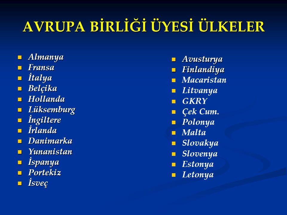 ADAY ÜLKELER Bulgaristan Bulgaristan Romanya Romanya Hırvatistan  2009'da üye olması beklenmektedir.