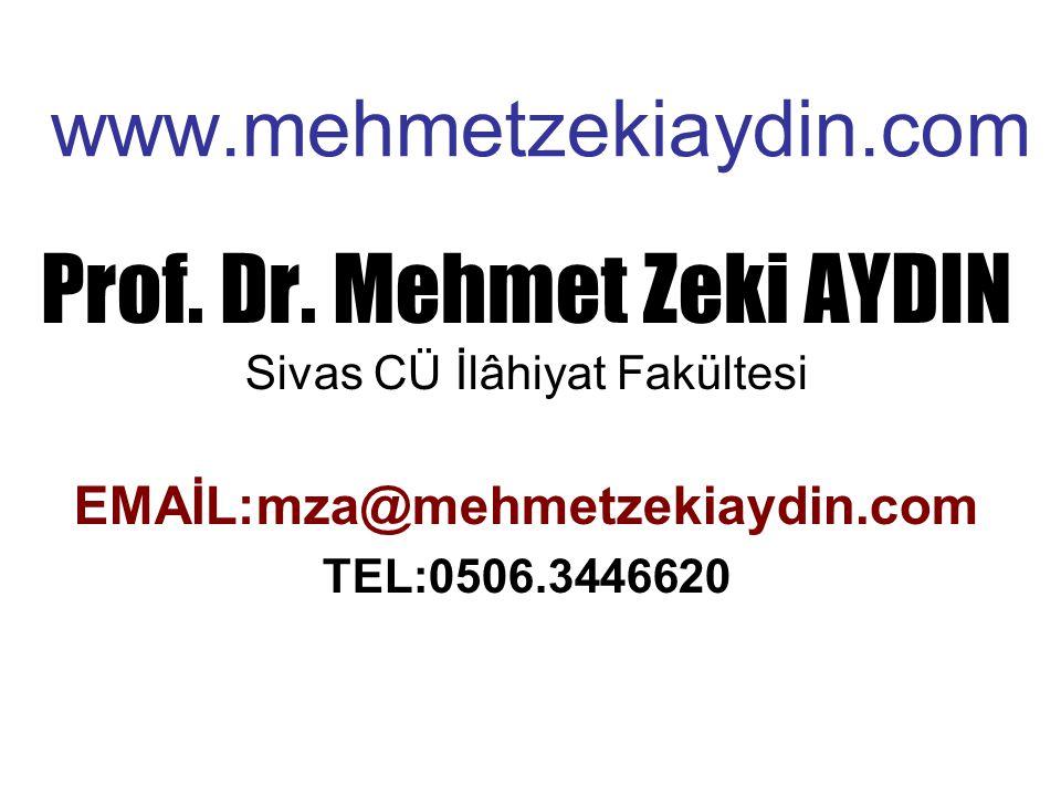 www.mehmetzekiaydin.com Prof.Dr.