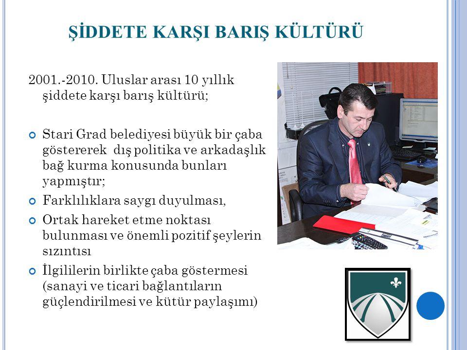 ŞİDDETE KARŞI BARIŞ KÜLTÜRÜ 2001.-2010.