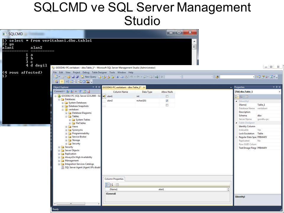 SQLCMD ve SQL Server Management Studio