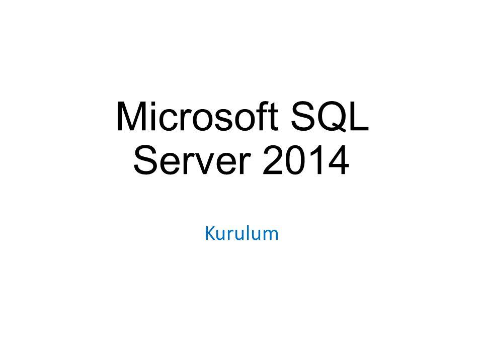 Microsoft SQL Server 2014 Kurulum