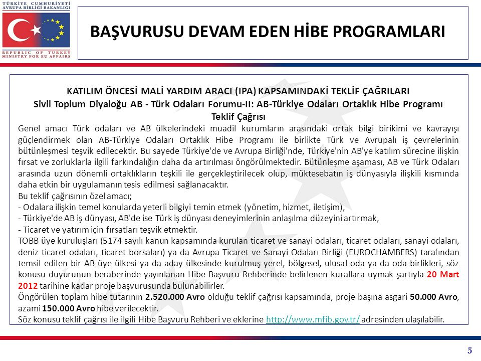 26 BAŞVURUSU DEVAM EDEN HİBE PROGRAMLARI KALKINMA AJANSLARI PROJE TEKLİF ÇAĞRILARI İstanbul Kalkınma Ajansı Kar Amacı Gütmeyen Kuruluşlara Yönelik Küresel Turizm Merkezi İstanbul Mali Destek Programı Programın genel hedefi, turizm sektörünün geliştirilerek İstanbul'un diğer küresel turizm merkezleri ile rekabet edecek nitelikte bir cazibe merkezi haline getirilmesine katkıda bulunmaktır.