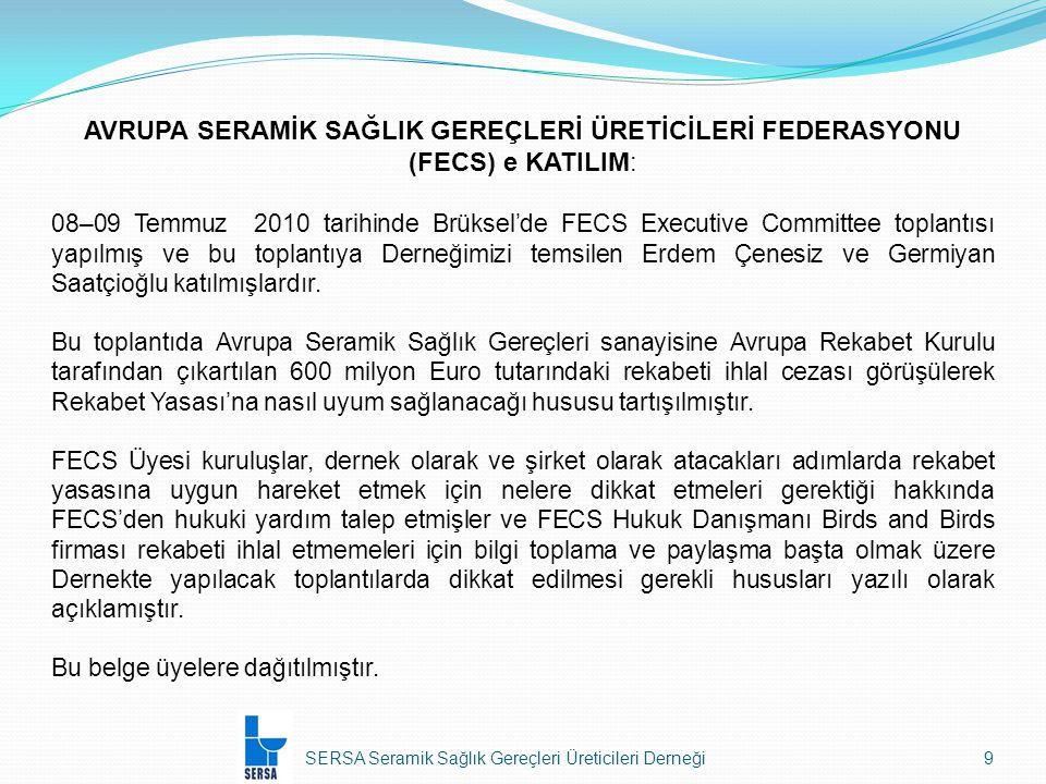 SERSA Seramik Sağlık Gereçleri Üreticileri Derneği40