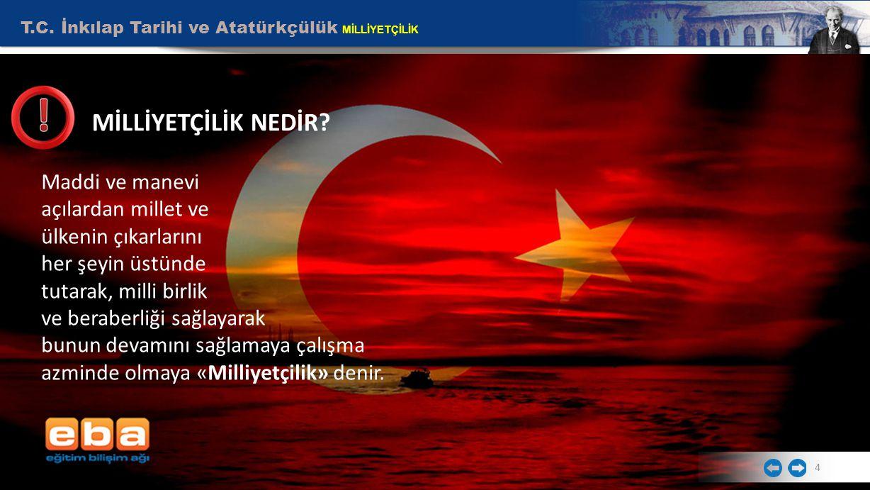 T.C.İnkılap Tarihi ve Atatürkçülük MİLLİYETÇİLİK 4 MİLLİYETÇİLİK NEDİR.