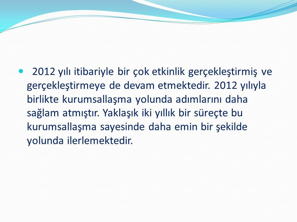 2012 yılı itibariyle bir çok etkinlik gerçekleştirmiş ve gerçekleştirmeye de devam etmektedir. 2012 yılıyla birlikte kurumsallaşma yolunda adımlarını