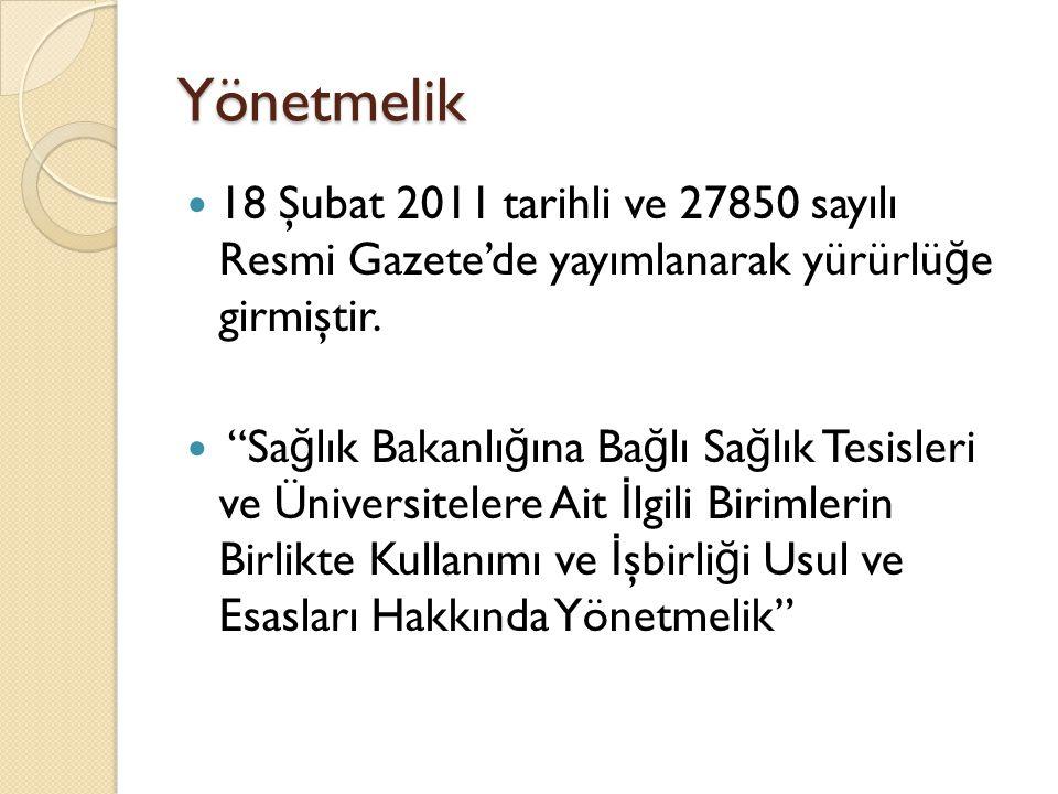 Yönetmelik 18 Şubat 2011 tarihli ve 27850 sayılı Resmi Gazete'de yayımlanarak yürürlü ğ e girmiştir.
