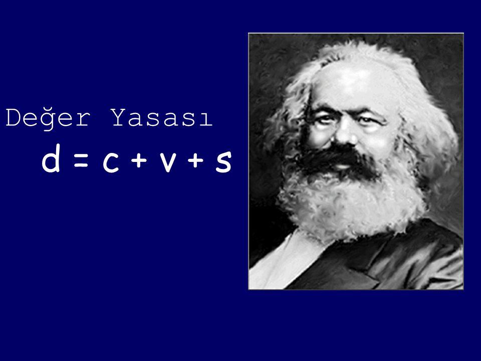 d = c + v + s Değer Yasası