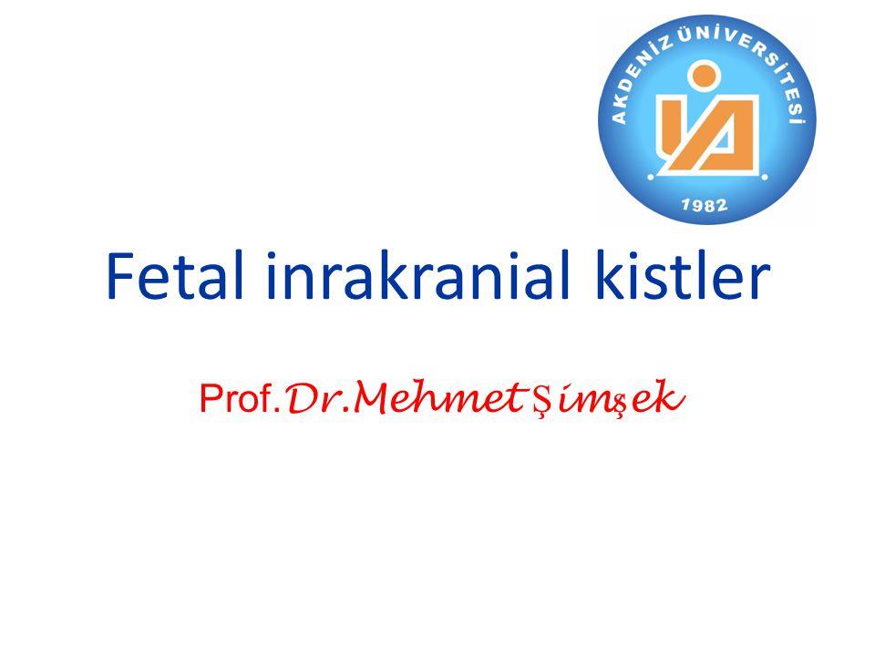 Fetal inrakranial kistler Prof. Dr.Mehmet Ş im ş ek