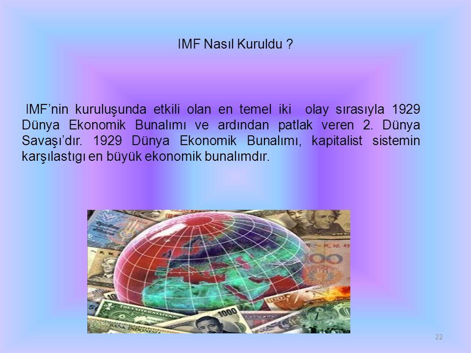 IMF Nasıl Kuruldu .