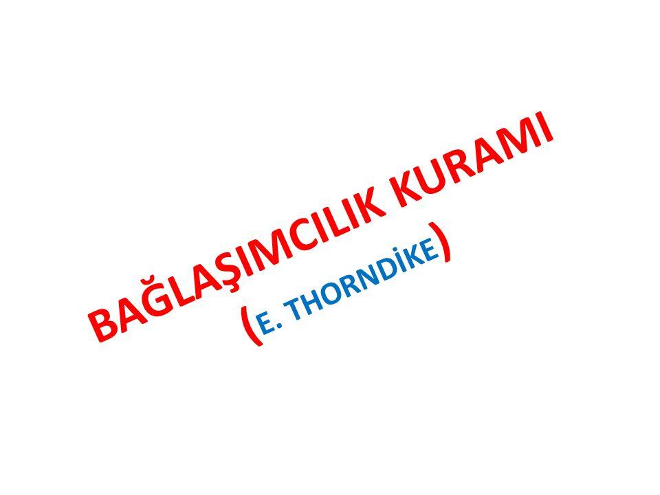 BAĞLAŞIMCILIK KURAMI ( E. THORNDİKE )