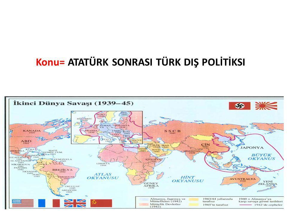Kıbrıs Sorunu  İkinci Dünya Savaşı'nın sona ermesiyle Rumlarla birlikte Yunanistan'da da Enosis faaliyetleri hız kazanmıştır.