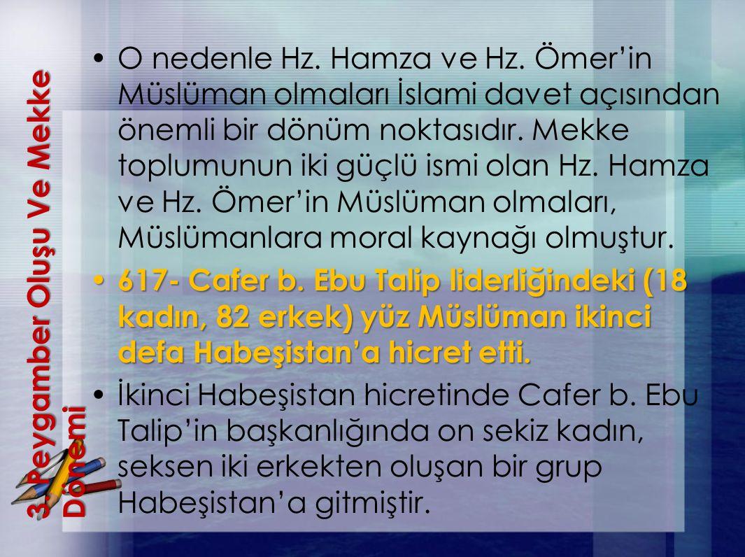 3. Peygamber OluşuVe Mekke Dönemi 3. Peygamber Oluşu Ve Mekke Dönemi O nedenle Hz. Hamza ve Hz. Ömer'in Müslüman olmaları İslami davet açısından öneml