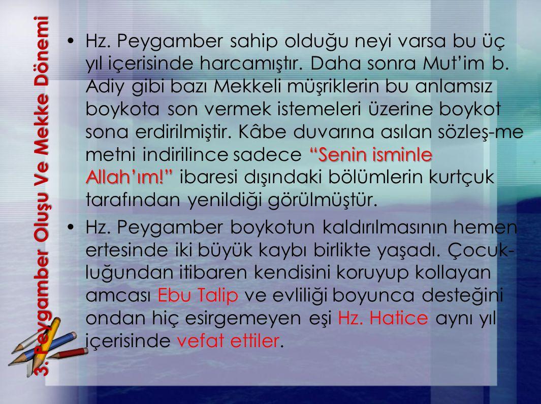 """3. Peygamber OluşuVe Mekke Dönemi 3. Peygamber Oluşu Ve Mekke Dönemi """"Senin isminle Allah'ım!""""Hz. Peygamber sahip olduğu neyi varsa bu üç yıl içerisin"""