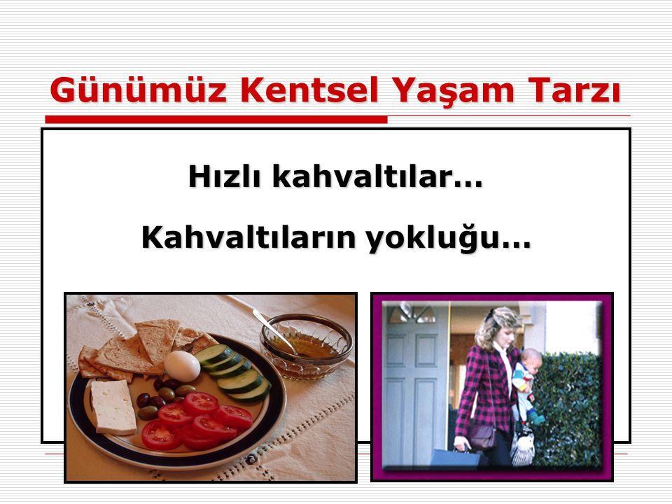 Günümüz Kentsel Yaşam Tarzı Hızlı kahvaltılar… Kahvaltıların yokluğu…