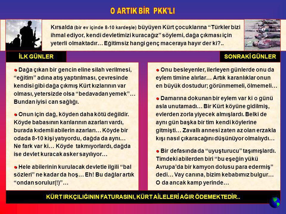 """Kırsalda (bir ev içinde 8-10 kardeşle) büyüyen Kürt çocuklarına """"Türkler bizi ihmal ediyor, kendi devletimizi kuracağız"""" söylemi, dağa çıkması için ye"""