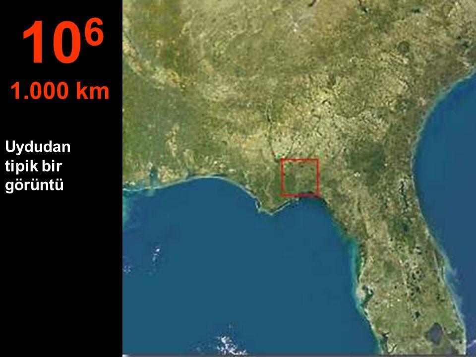 Bu yükseklikten Florida eyaleti tümüyle görülebiliyor.. 10 5 100 km