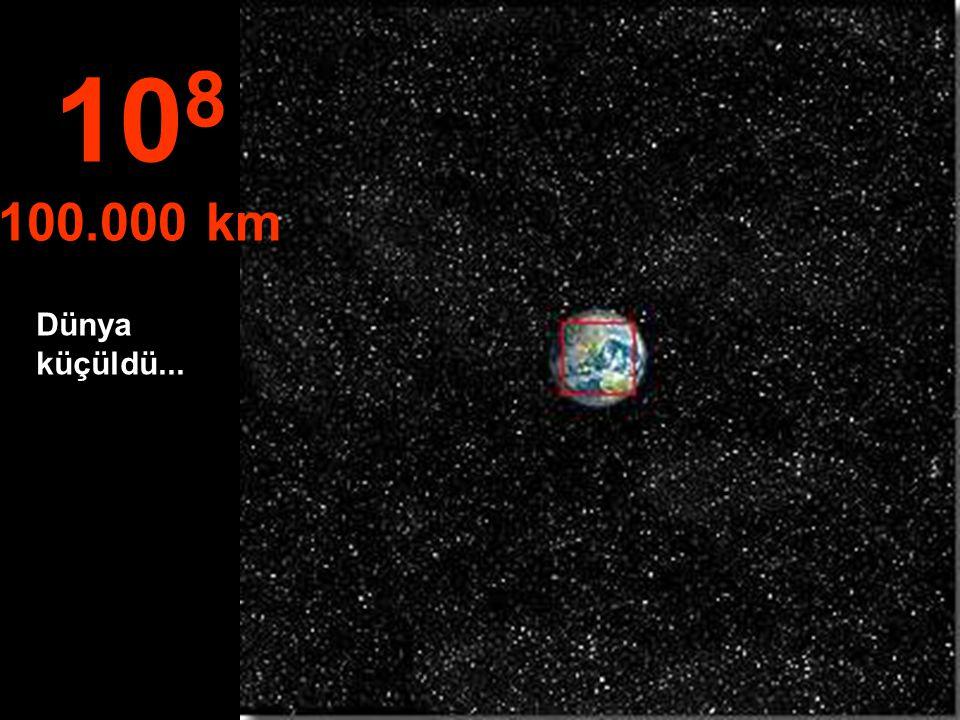Kuzey Amerika ve kısmen Güney Amerika görülüyor 10 7 10.000 km