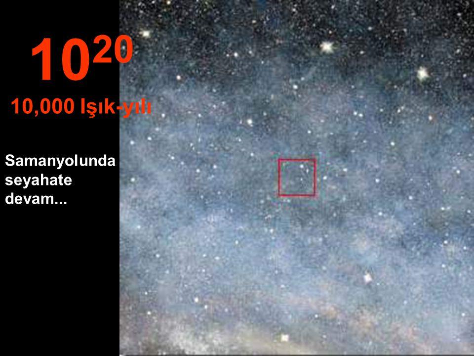 10 19 1,000 Işık-yılı Bu mesafede Samanyolunda yani galaksimizde seyahat ediyoruz