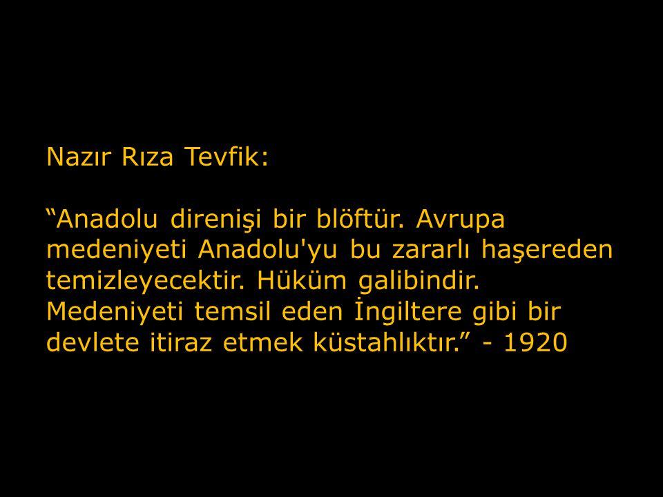Adliye Nazırı Ali Rüştü: General Paraskevopulos un ordusu, şimdi sür'at ve şiddetle harekâta devam eyleyecek olursa, birkaç haftada Ankara önlerinde bulunacaktır.
