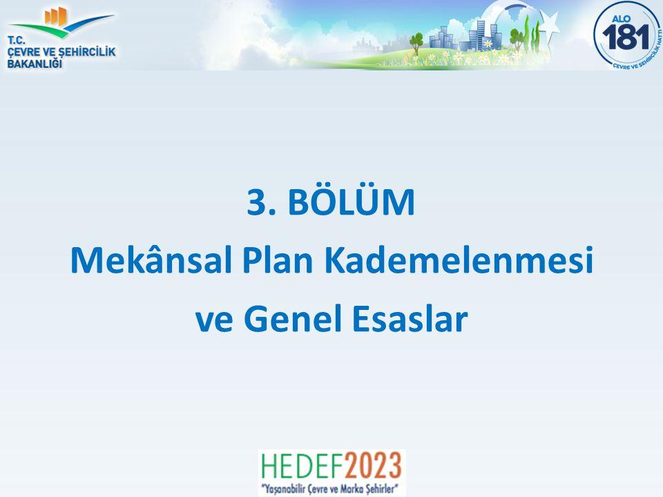 3. BÖLÜM Mekânsal Plan Kademelenmesi ve Genel Esaslar