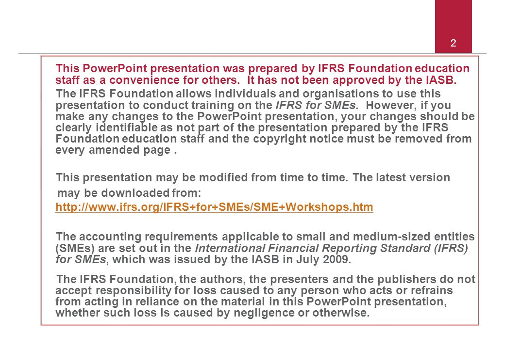 © 2011 IFRS Foundation 3 3 - 8.