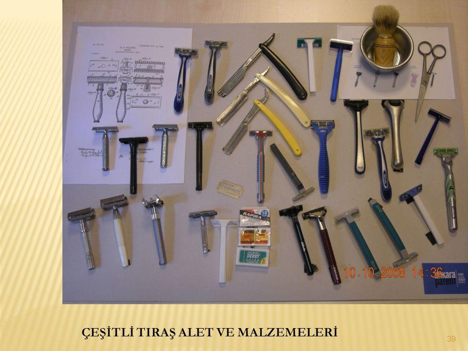 ÇEŞİTLİ TIRAŞ ALET VE MALZEMELERİ 39
