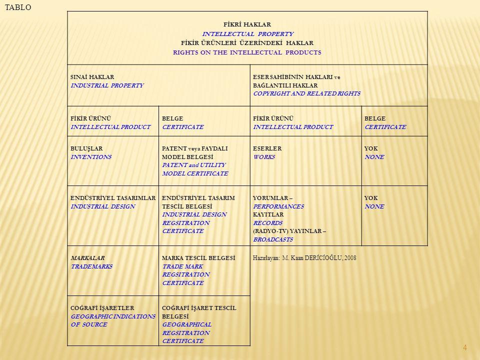 http://online.tpe.gov.tr/ Türk Patent Enstitüsü'nün yukarıdaki adresinde yer alan Patent Araştırım sayfasından Türkiye'de verilen Patent ve Faydalı Model Belgeleri'nin tam metinlerine ulaşılabilmektedir.