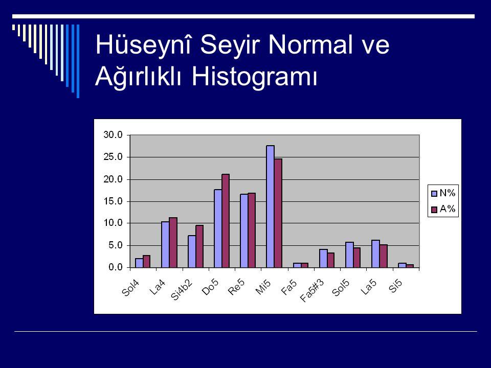 Hüseynî Seyir Normal ve Ağırlıklı Histogramı