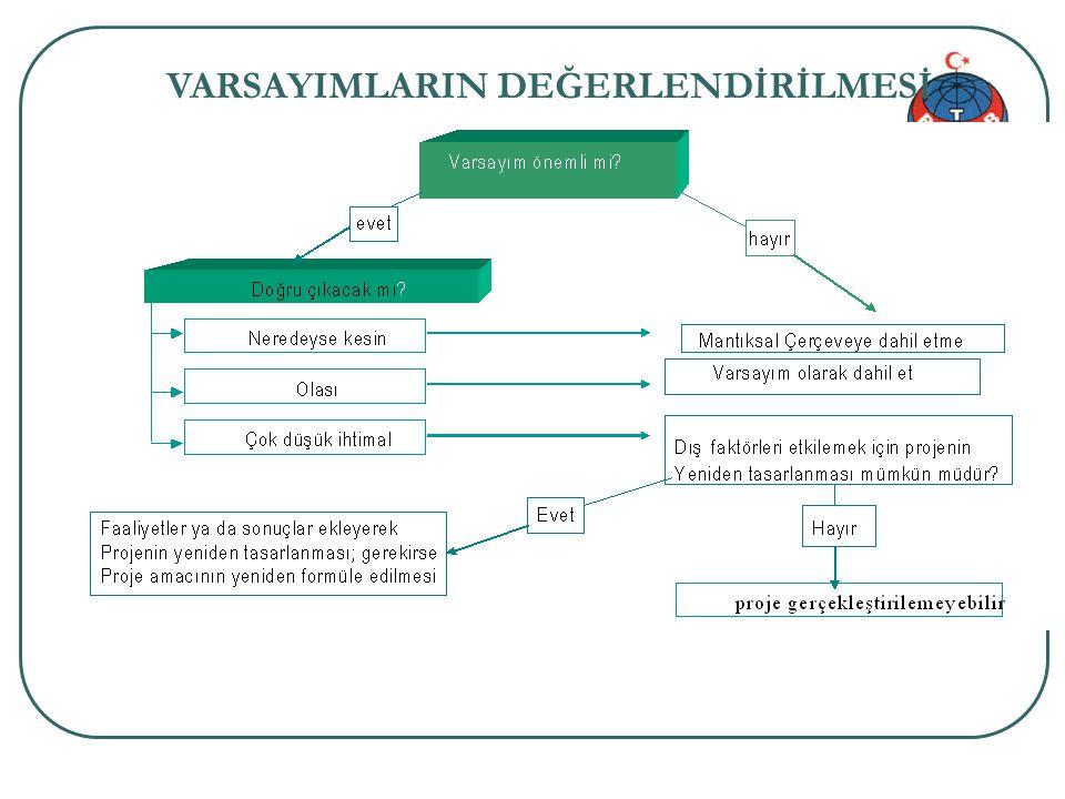 Proje genel bilgi 41/34 VARSAYIMLARIN DEĞERLENDİRİLMESİ