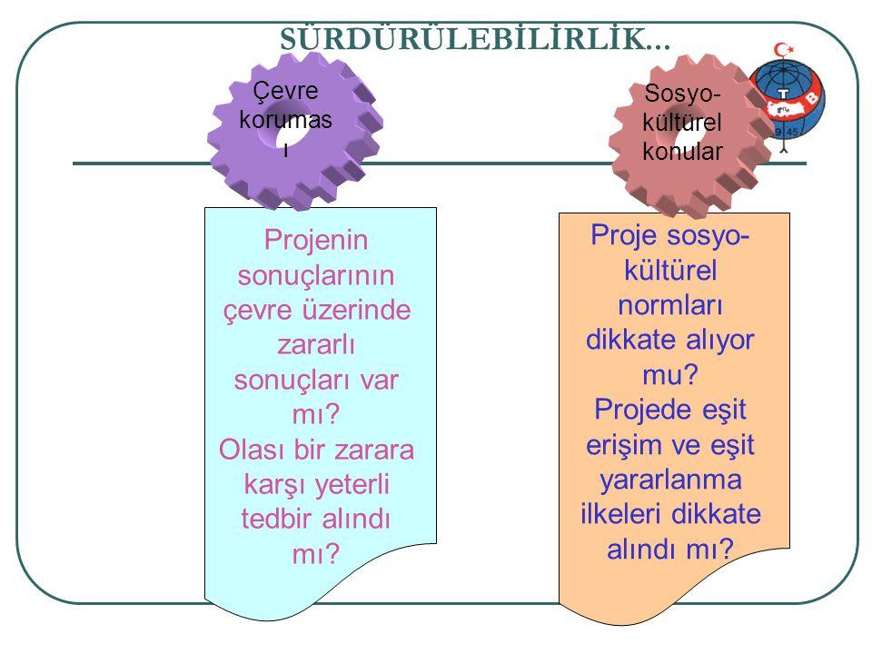 Proje genel bilgi 58/34 SÜRDÜRÜLEBİLİRLİK...