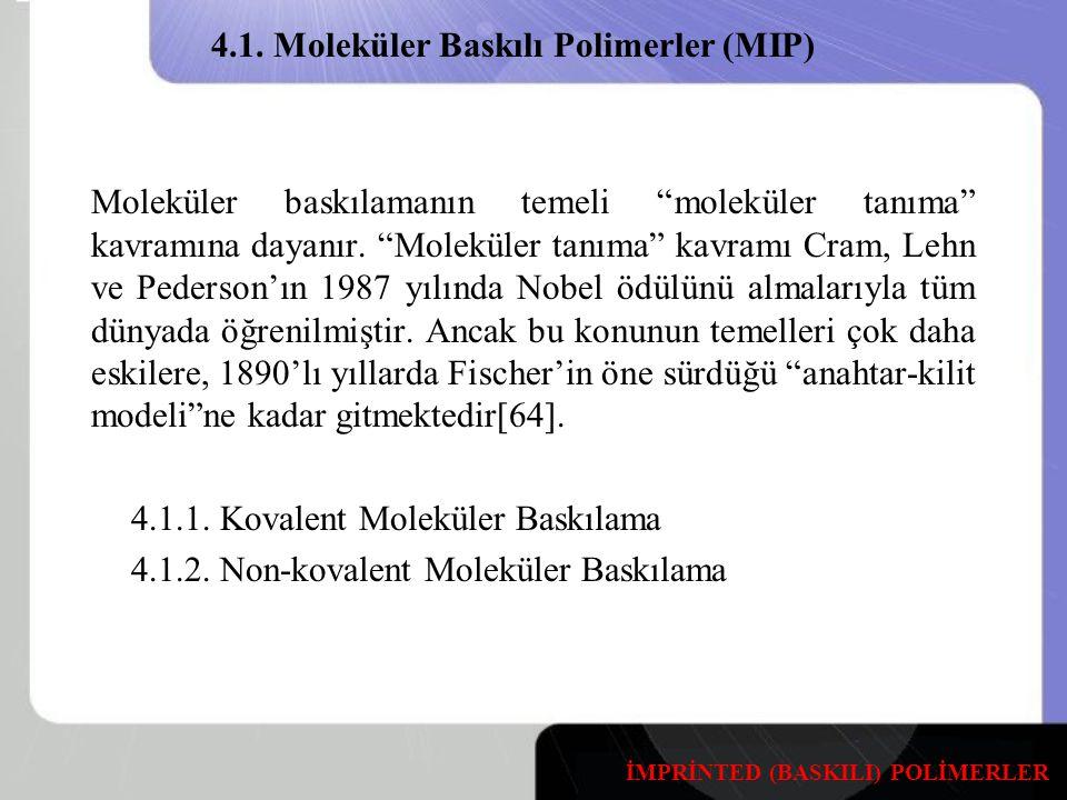 Moleküler baskılamanın temeli moleküler tanıma kavramına dayanır.