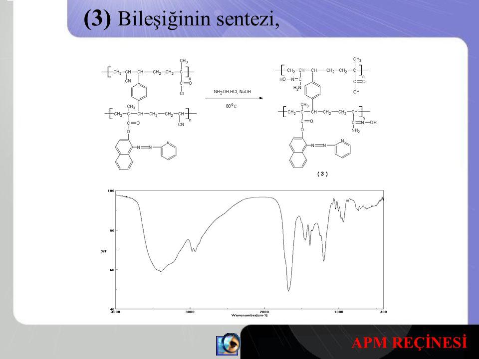 (3) Bileşiğinin sentezi, APM REÇİNESİ