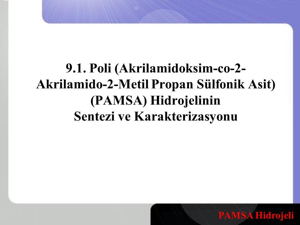 9.1. Poli (Akrilamidoksim-co-2- Akrilamido-2-Metil Propan Sülfonik Asit) (PAMSA) Hidrojelinin Sentezi ve Karakterizasyonu PAMSA Hidrojeli