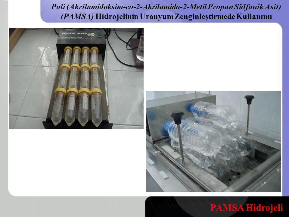 Poli (Akrilamidoksim-co-2-Akrilamido-2-Metil Propan Sülfonik Asit) (PAMSA) Hidrojelinin Uranyum Zenginleştirmede Kullanımı PAMSA Hidrojeli