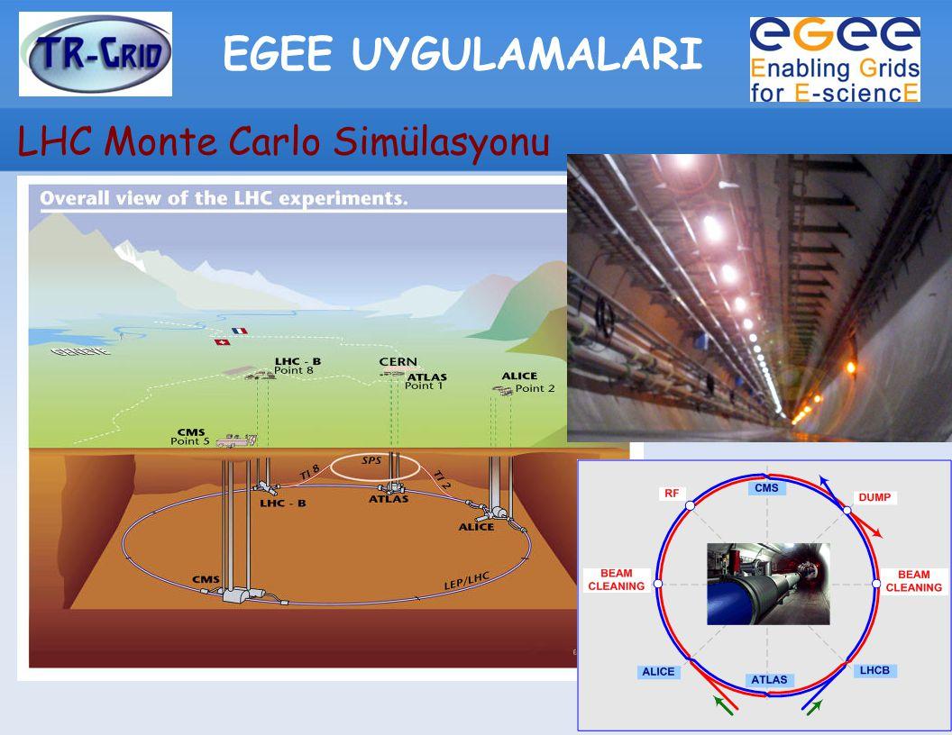 EGEE UYGULAMALARI LHC Monte Carlo Simülasyonu