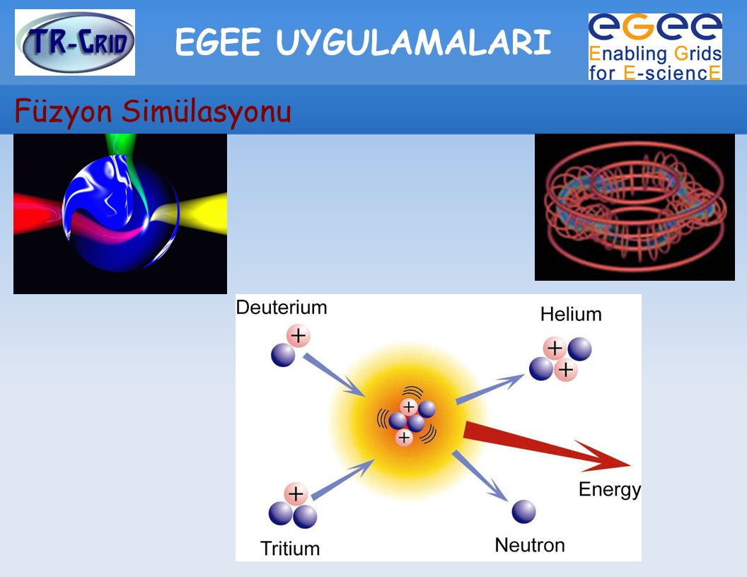 EGEE UYGULAMALARI Füzyon Simülasyonu