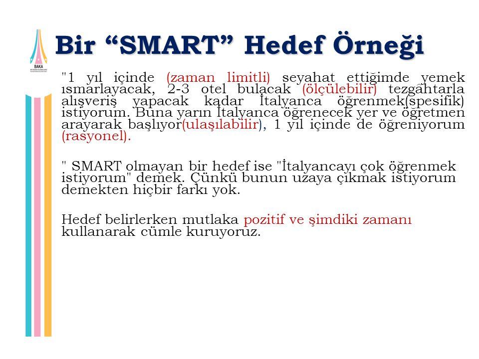 """Bir """"SMART"""" Hedef Örneği"""