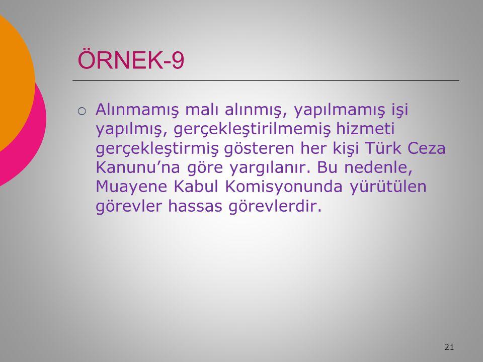ÖRNEK-8  Sağlık, Kültür Spor Daire Başkanlığının düzenleyeceği mezuniyet töreni, konser, konferans, sergi vb.