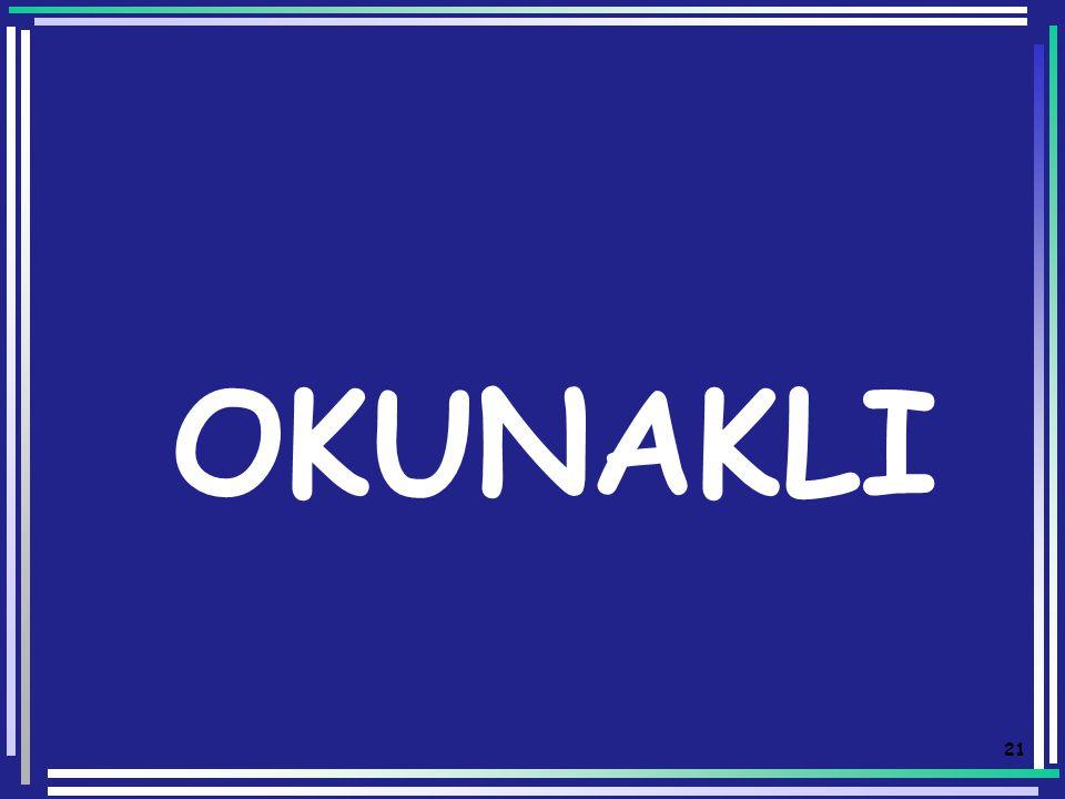 20 OKUNAKLI