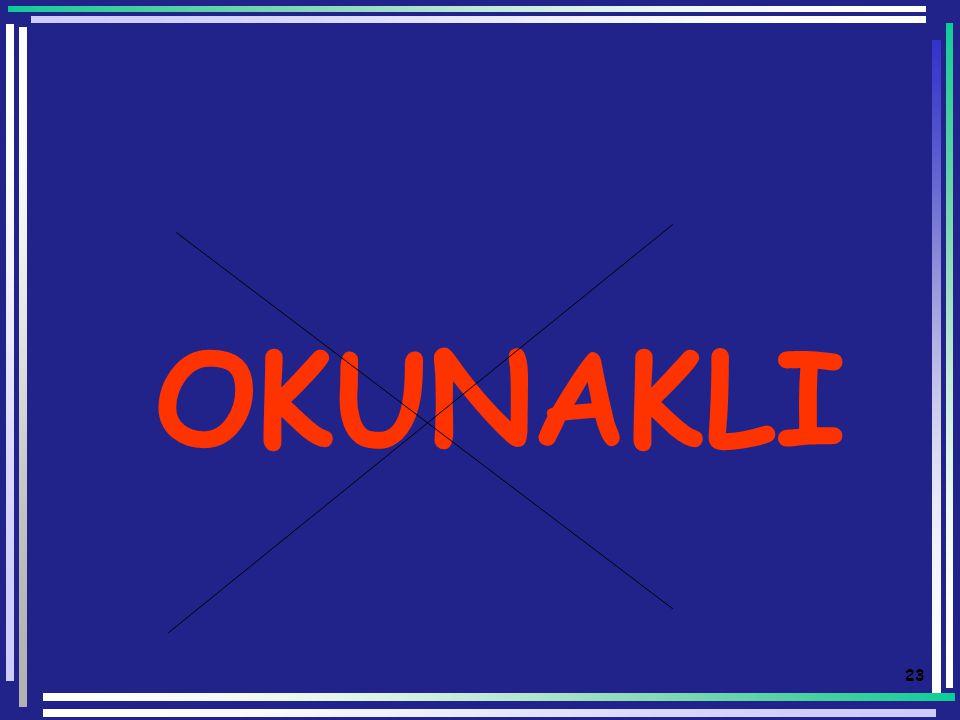 22 OKUNAKLI