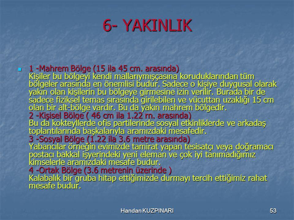 53 6- YAKINLIK 1 -Mahrem Bölge (15 ila 45 cm.