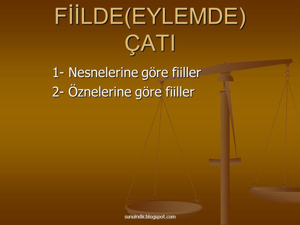 C) Oldurgan Fiiller Geçişsiz bir fiilin üzerine -r,-t,-tır eklerinden birinin getirilerek fiilin geçişli yapılmasına oldurgan çatılı fiil denir Geçişsiz bir fiilin üzerine -r,-t,-tır eklerinden birinin getirilerek fiilin geçişli yapılmasına oldurgan çatılı fiil denir